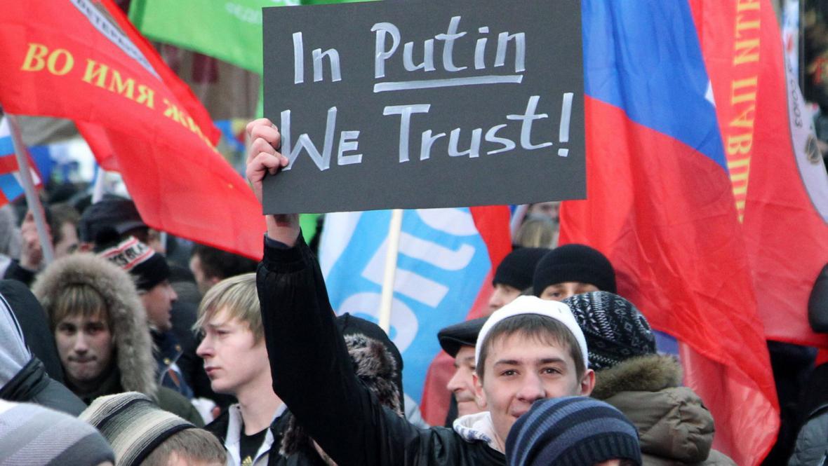 Stoupenci strany Jednotné Rusko