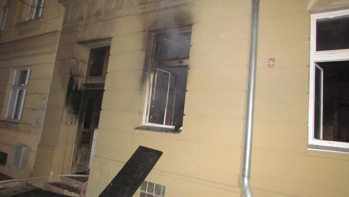Požár na ulici Bratří Čapků v Brně