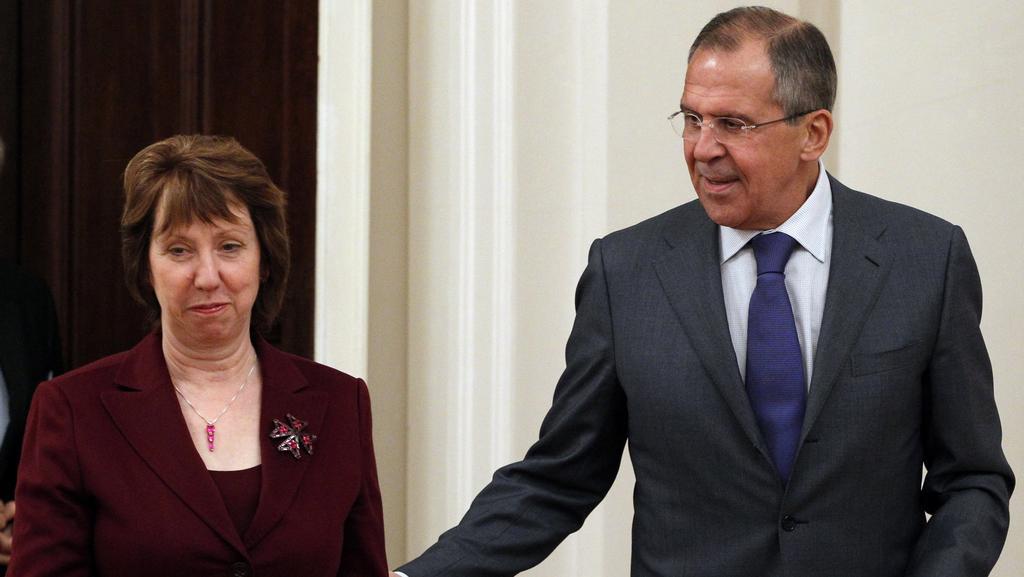 Catherine Ashtonová a Sergej Lavrov