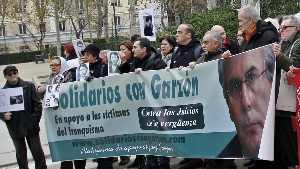 Protesty proti souzení Baltazara Garzóna
