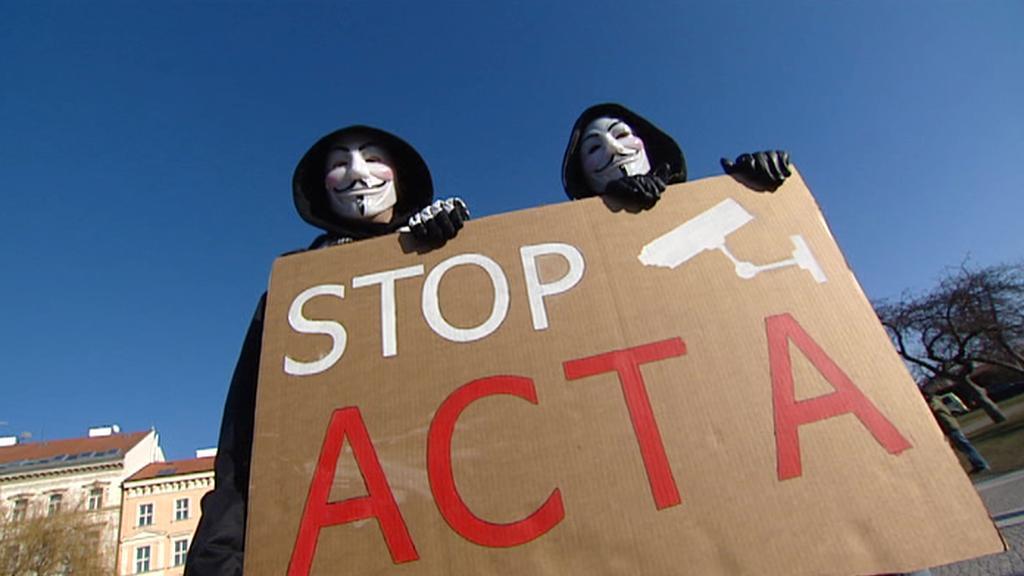 Protest proti dohodě ACTA