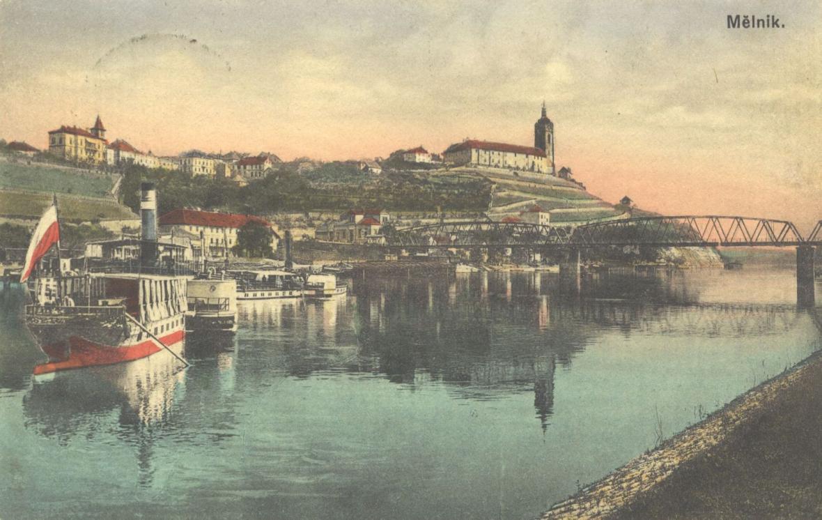 Mělník na dobové pohlednici
