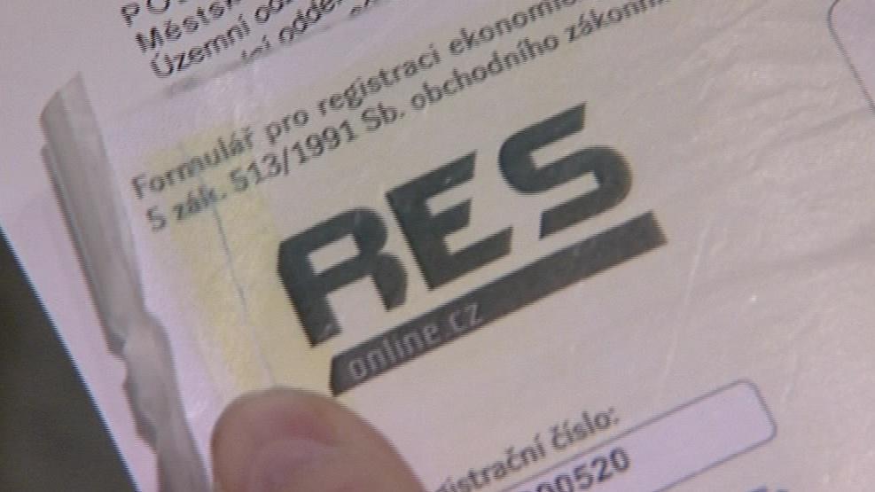 Formulář firmy RES je téměř identický s oficiálními formuláři