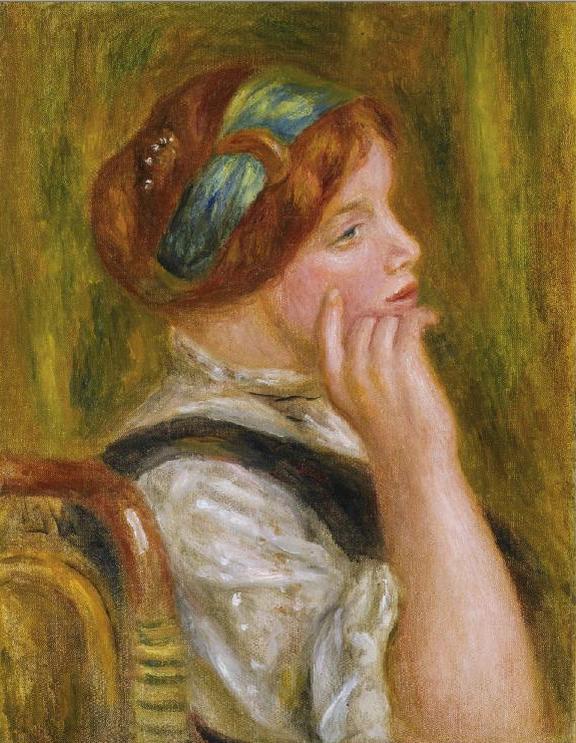 Pierre-Auguste Renoir / Portrait de femme au bandeau vert