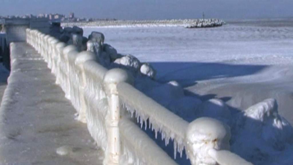 Zamrzlé moře v Rumunsku