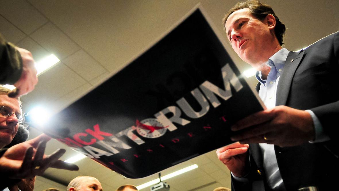Kandidát Rick Santorum