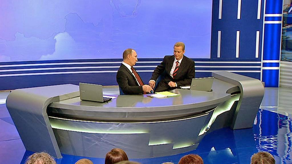 Vladimir Putin v televizní besedě