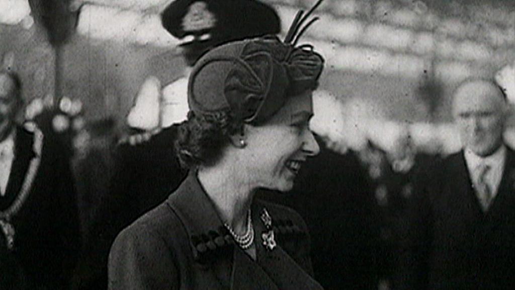 Dobový snímek britské královny v raných letech panování