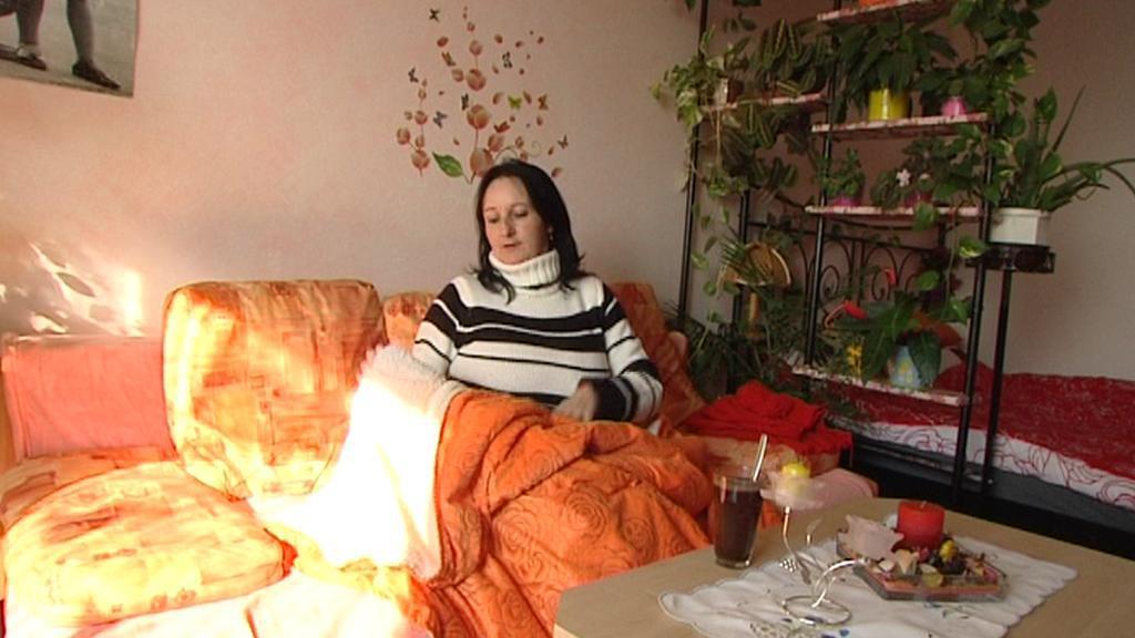 Jana Meruňková ve svém bytě