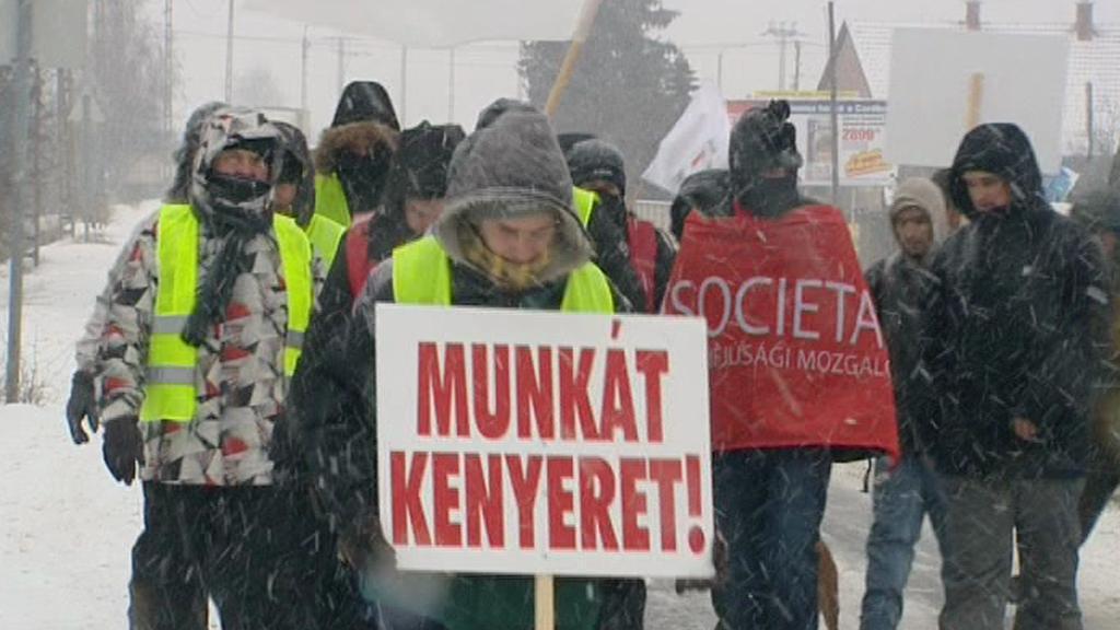 Účastníci tzv. hladového pochodu