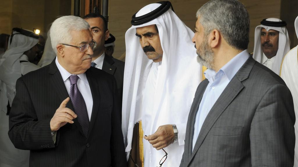 Mahmúd Abbás a Chálid Mišal