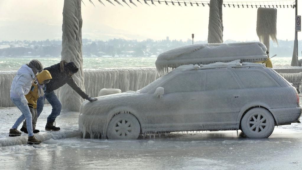 Mrazivé počasí ve Švýcarsku
