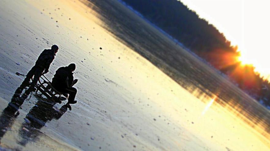 Zamrzlá přehrada Seč