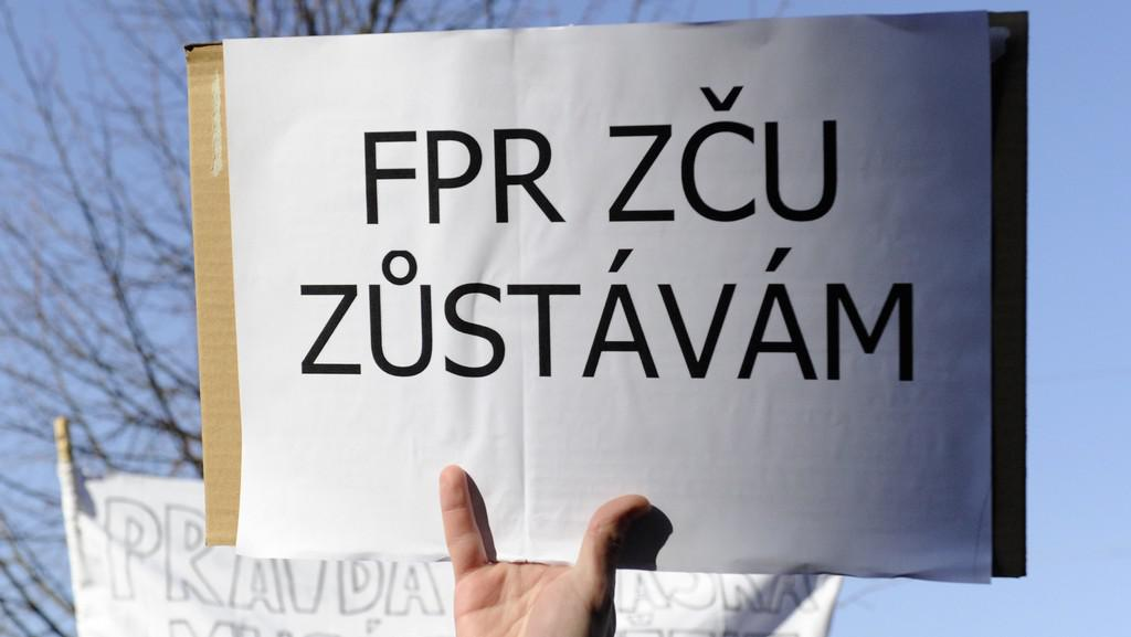 Protesty studentů plzeňských práv
