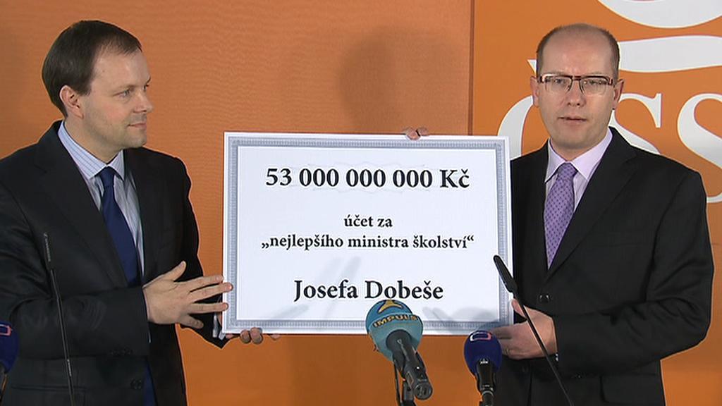 ČSSD kritizuje Dobeše kvůli dotacím