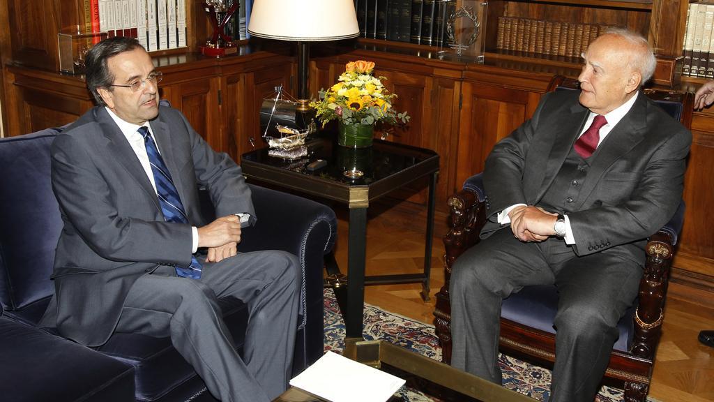 Karolos Papulias a Antonis Samaras