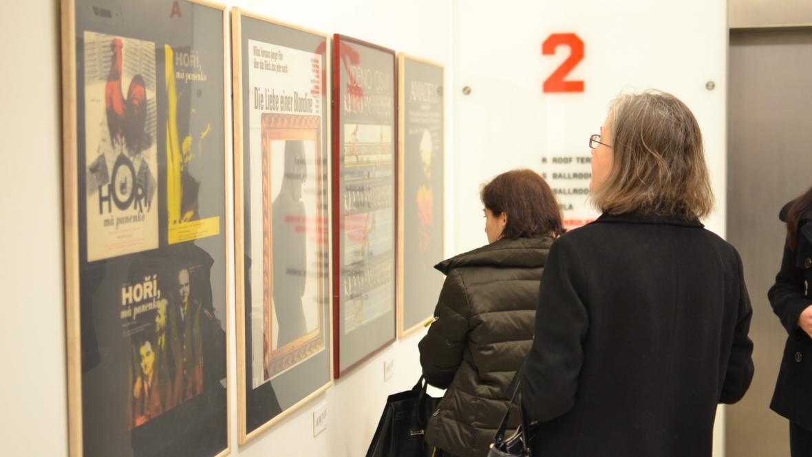 Výstava plakátů ke snímkům Miloše Formana