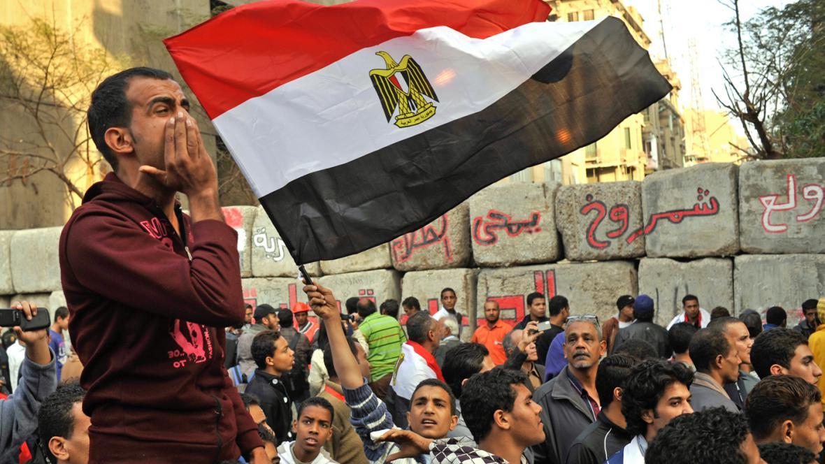 Povolební demonstrace v Káhiře