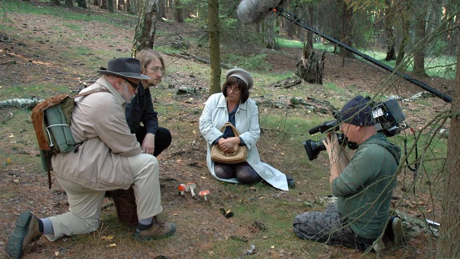 Z natáčení pořadu Na houby