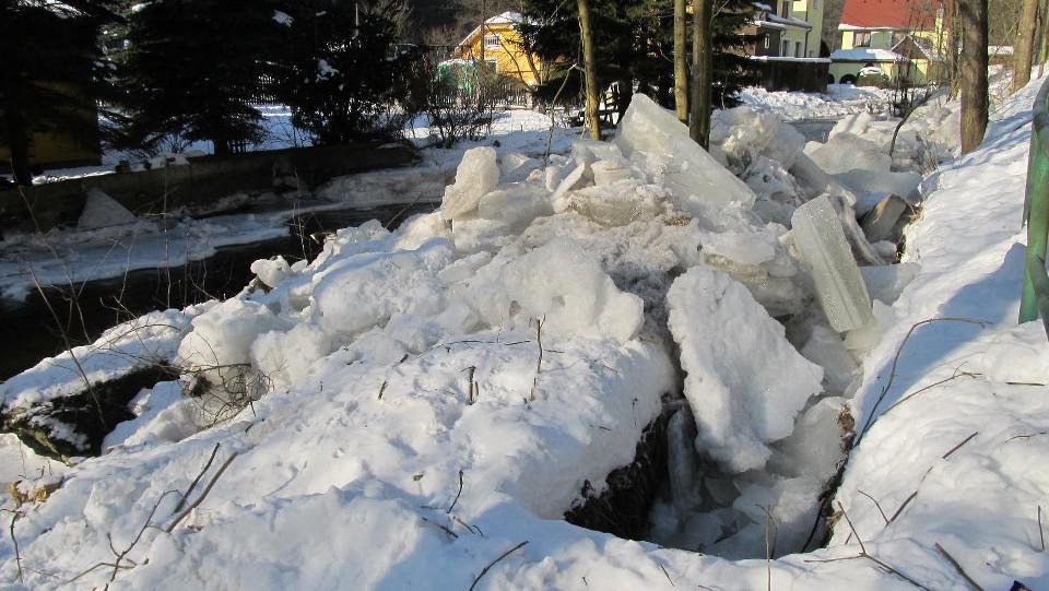 Ledy na Bystřici u Merklína