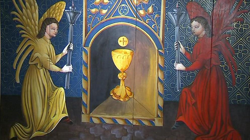 Oltářní křídla z Roudník (detail)