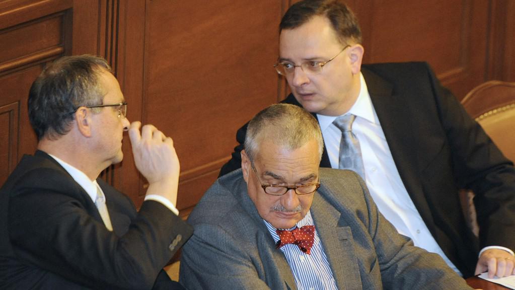 Miroslav Kalousek, Karel Schwarzenberg a Petr Nečas