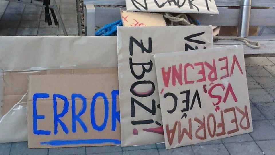 Transparenty brněnských studentů