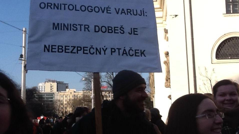 Protest brněnských studentů