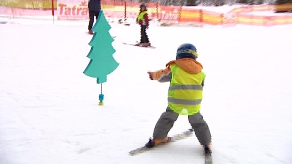 Malý lyžař