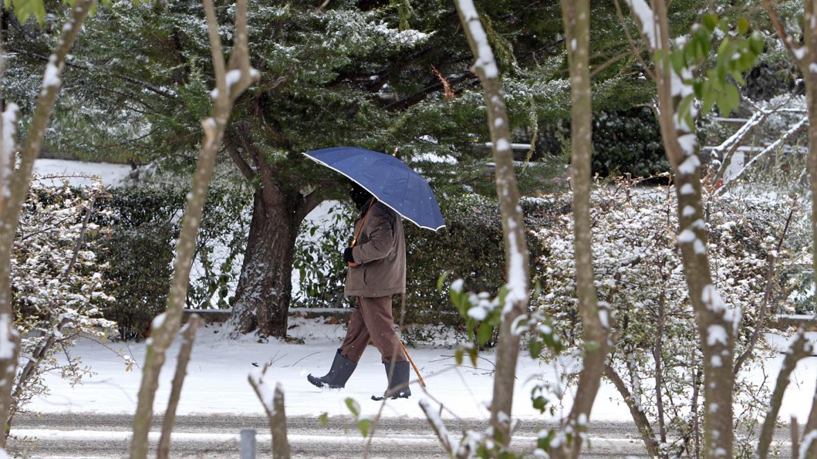 Atény zasypal sníh