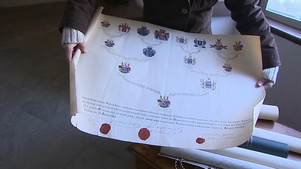 Truhla vydala také listiny rodu Stillfriedů