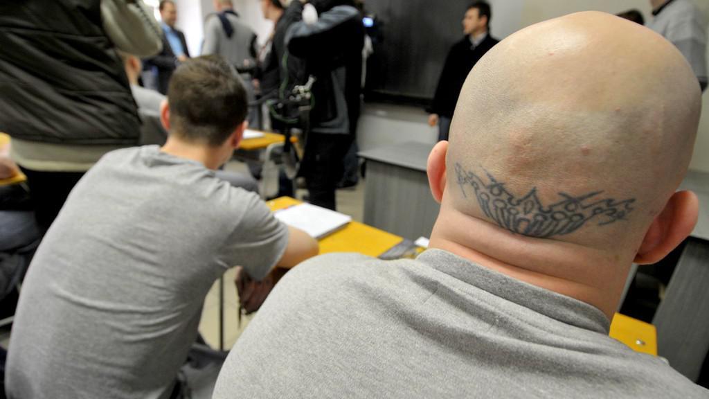 Rozdávání vysvědčení ve věznici Jiřice