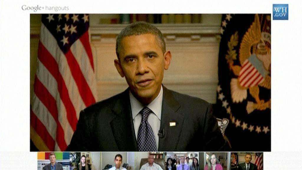Obama chatoval s občany