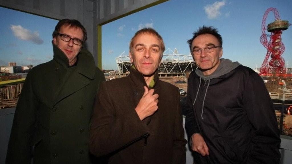 Underworld a D. Boyle před stavbou olympijského stadionu v Londýně