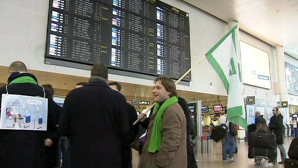 Stávka na belgickém letišti