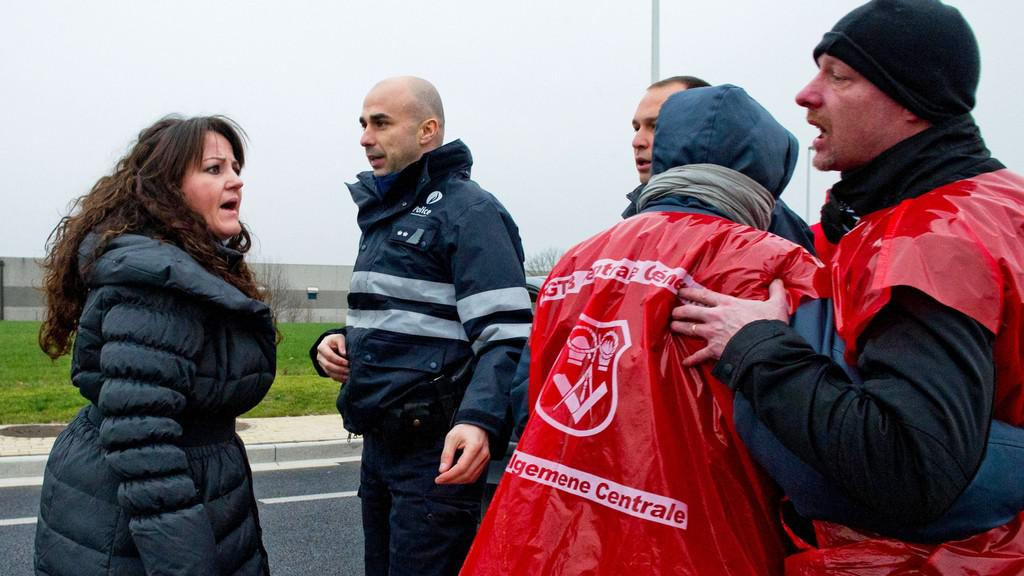 Demonstrace v Belgii