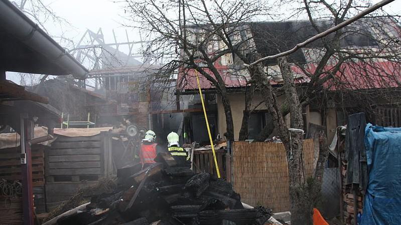 Stodolu požár zničil