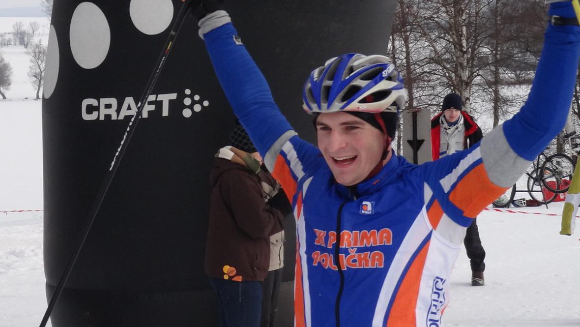 Zimní triatlon ovládl Petr Vlček