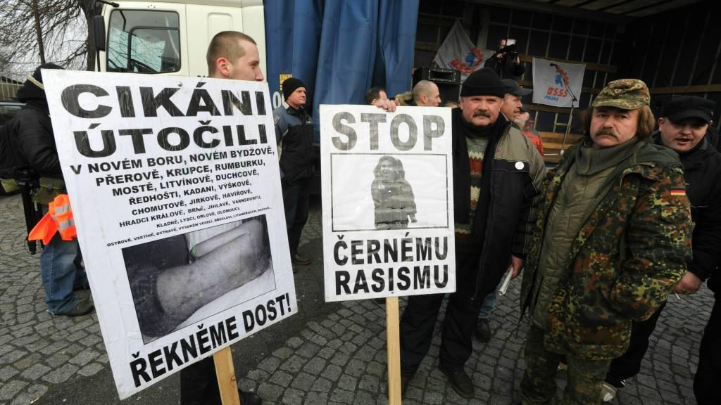 Demonstrace ve Varnsdorfu