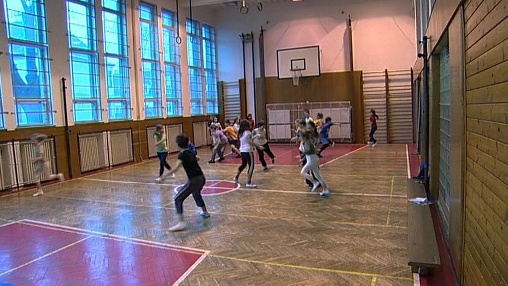 Tělocvična krnovské školy