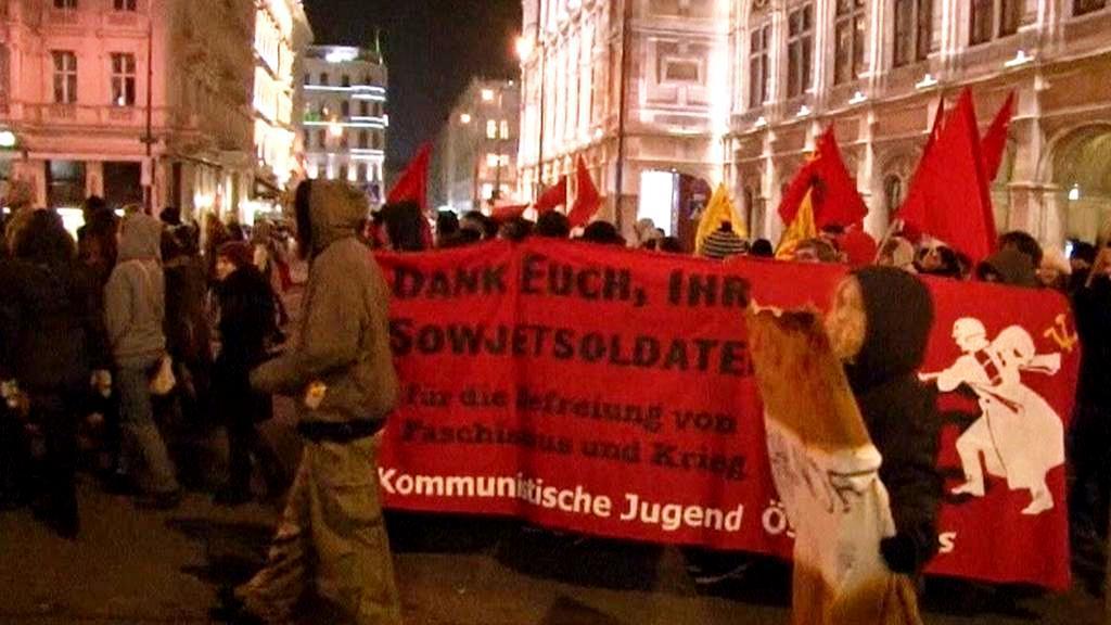 Demonstrace ve Vídni