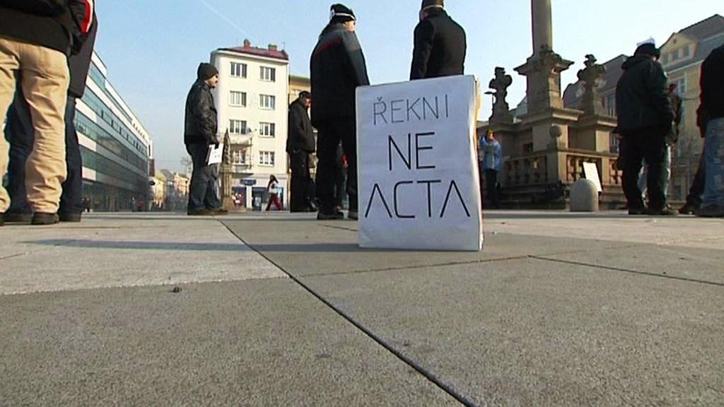 Ostravský protest proti smlouvě ACTA