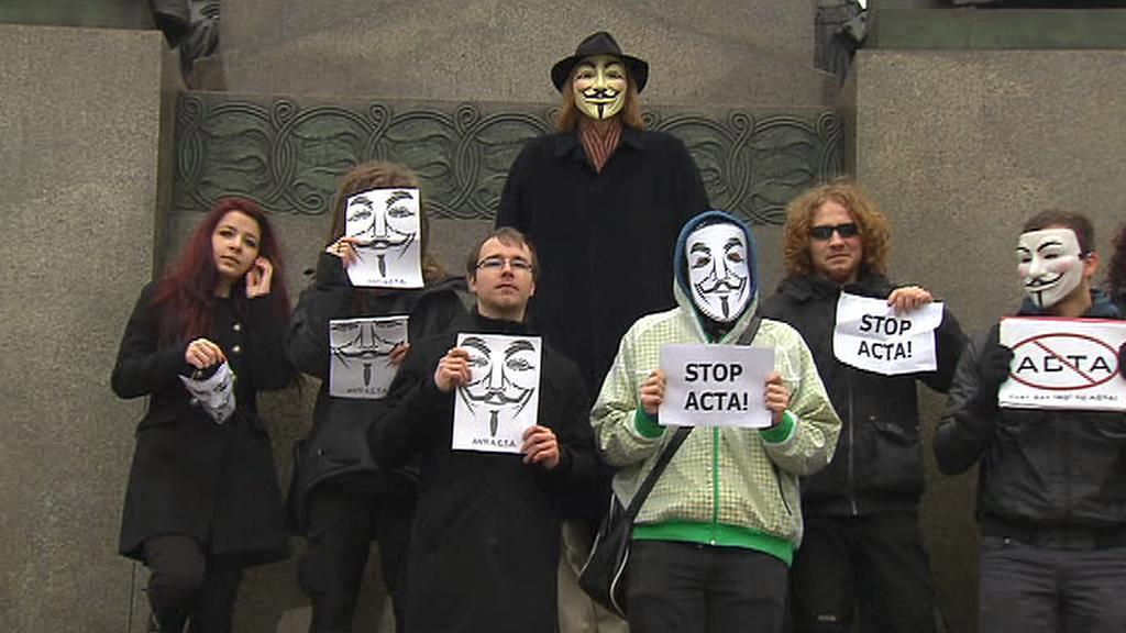 Pražský protest proti smlouvě ACTA