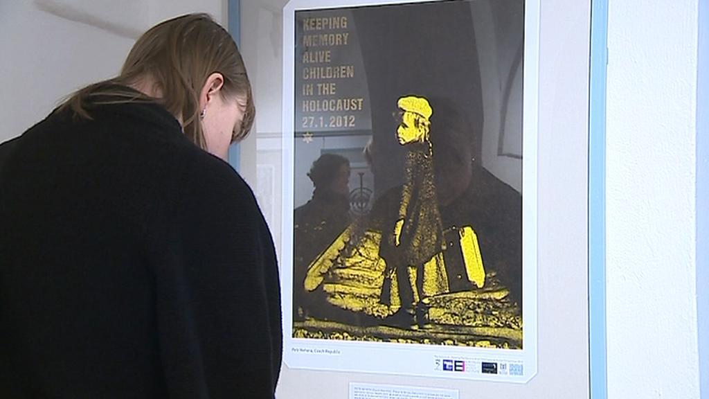Výstava plakátů Děti za holocaustu