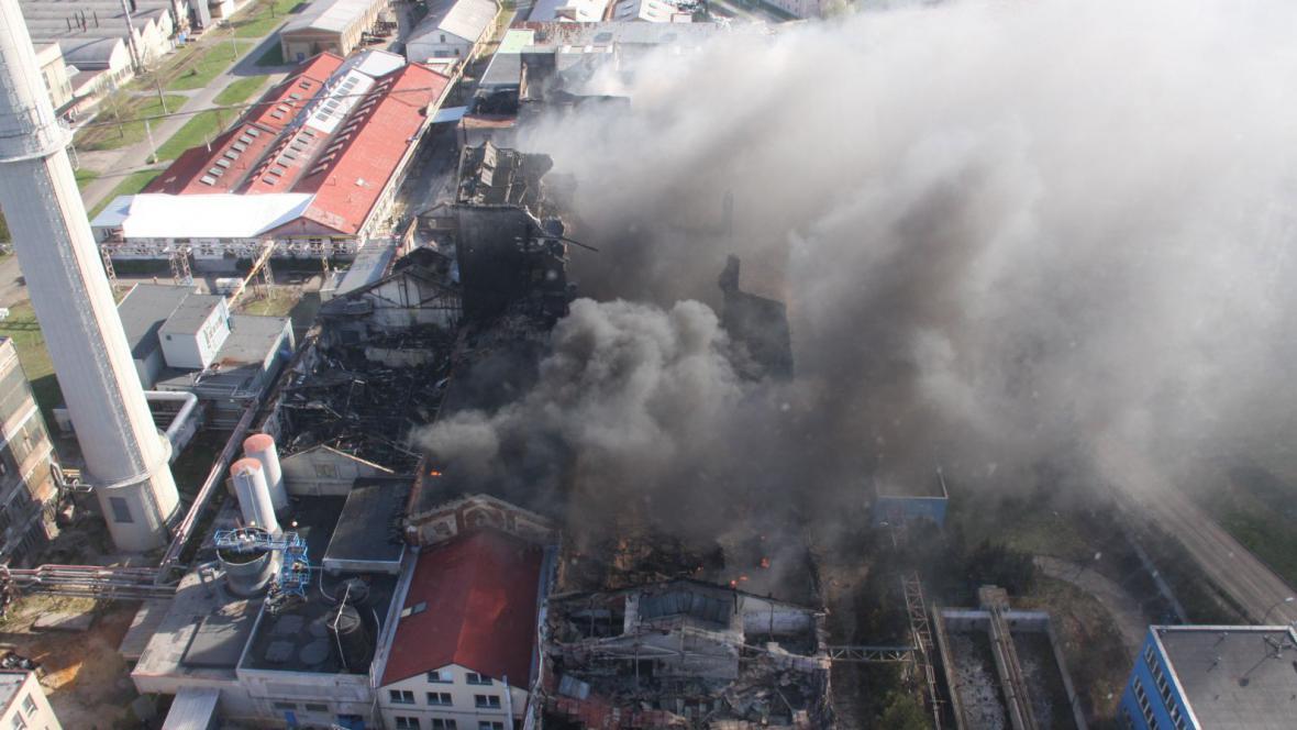 Rozsáhlý požár v Chropyni