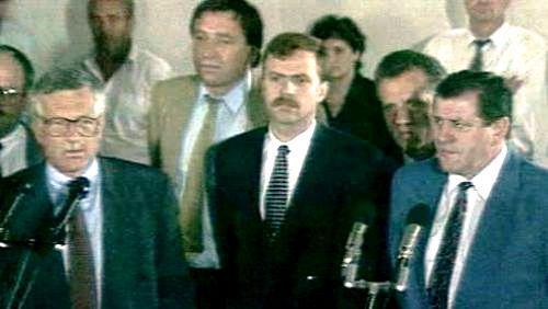 Václav Klaus a Vladimír Mečiar