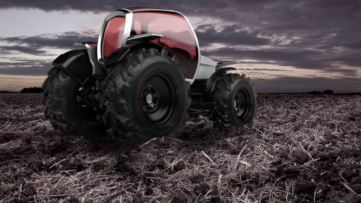 Futuristický návrh traktoru Davida Poláška