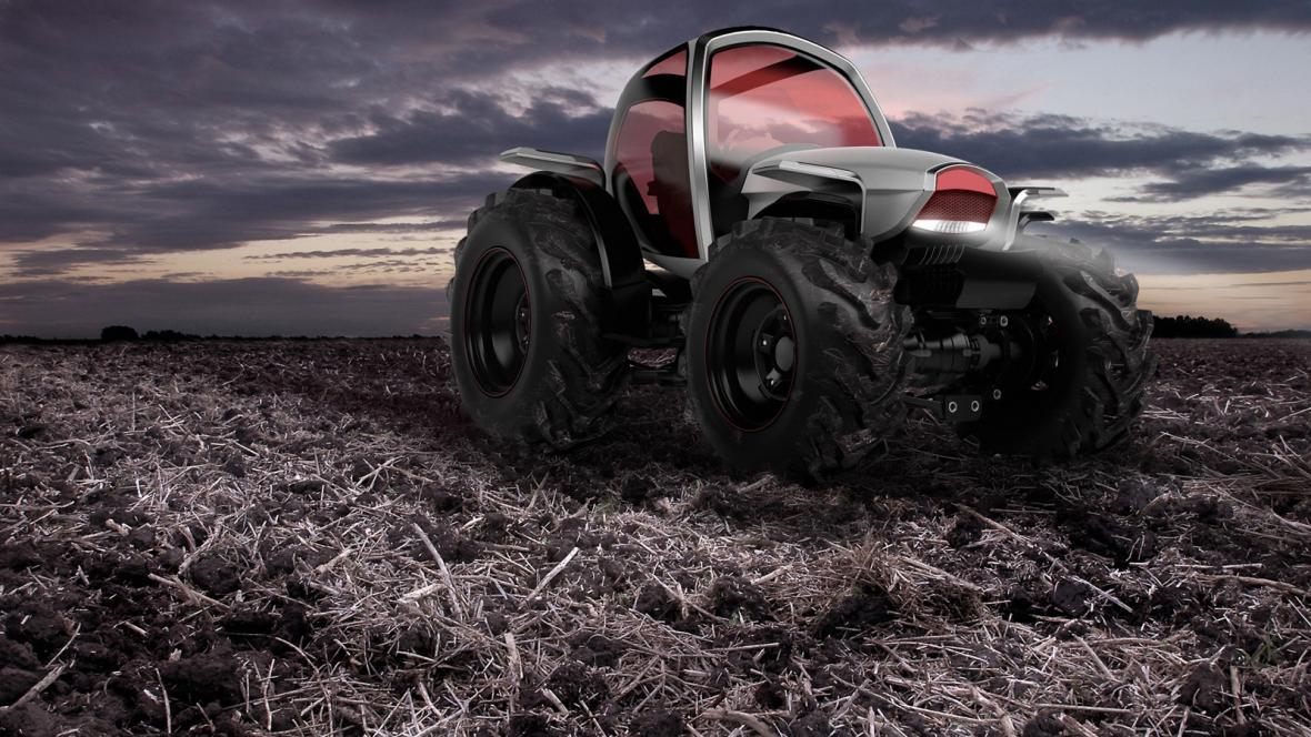 Futuristický návrh traktora Davida Poláška