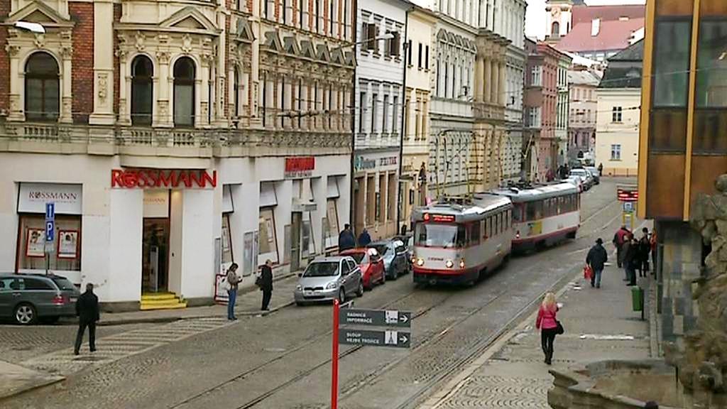 Tramvaj v centru Olomouce