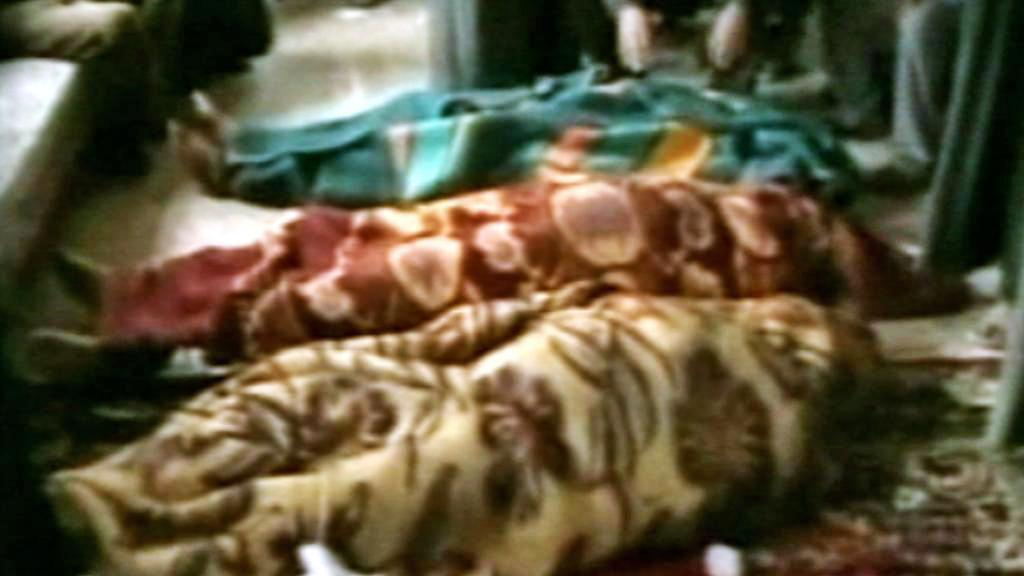 Oběti masakru v irácké Hadíse
